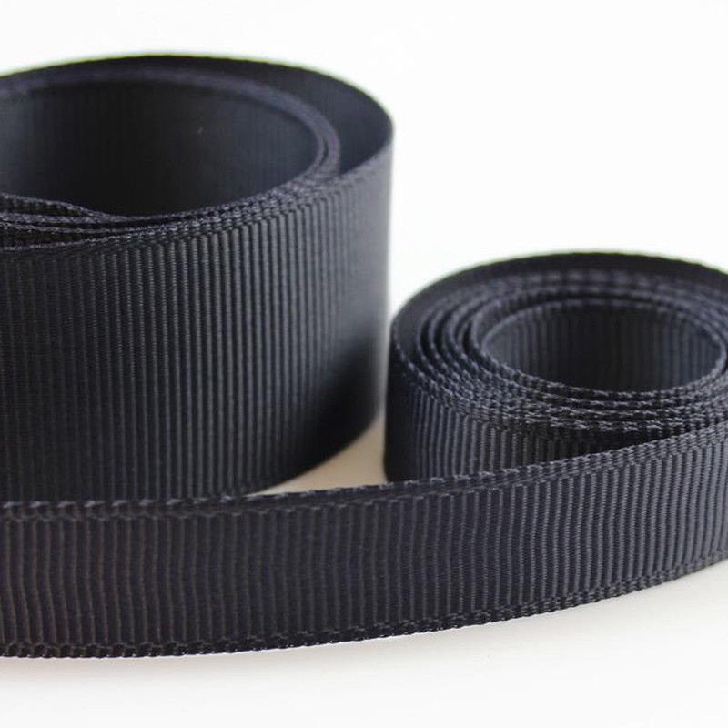 5 Metres Quality Grosgrain Ribbon 3mm Wide - Charcoal