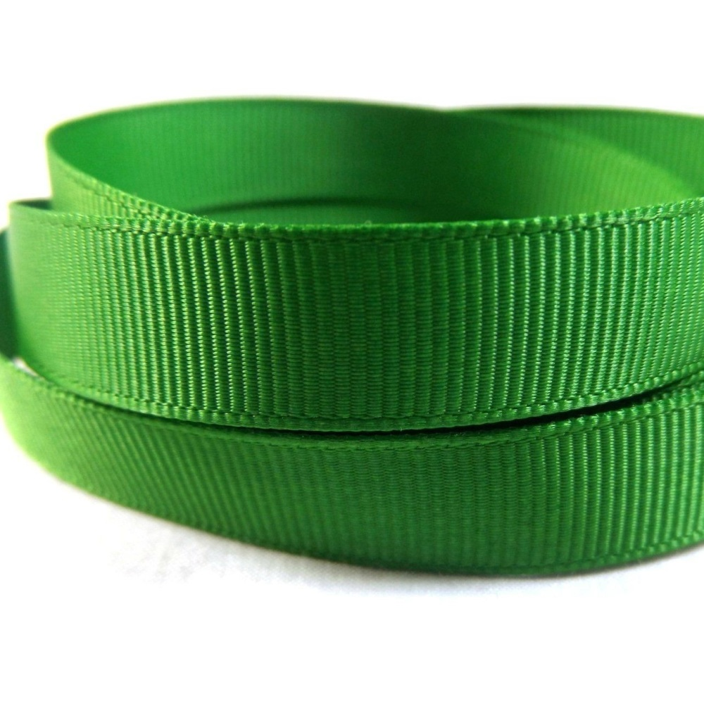 5 Metres Quality Grosgrain Ribbon 6mm Wide - Emerald Green