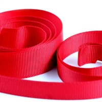 5 Metres Quality Grosgrain Ribbon 10mm Wide - Red