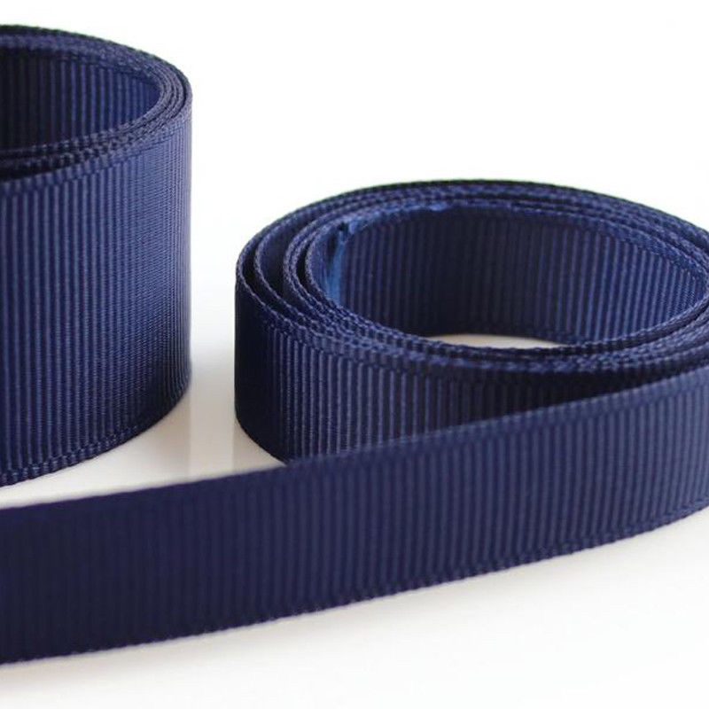 5 Metres Quality Grosgrain Ribbon 10mm Wide - Navy Blue