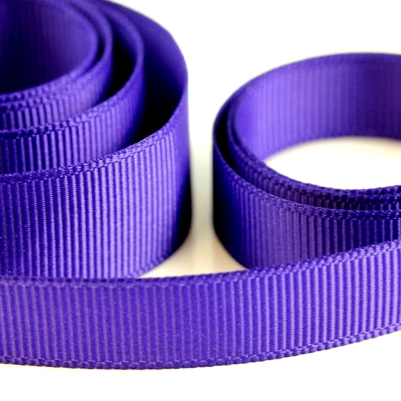 5 Metres Quality Grosgrain Ribbon 10mm Wide - Purple