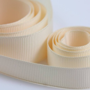 5 Metres Quality Grosgrain Ribbon 10mm Wide - Cream