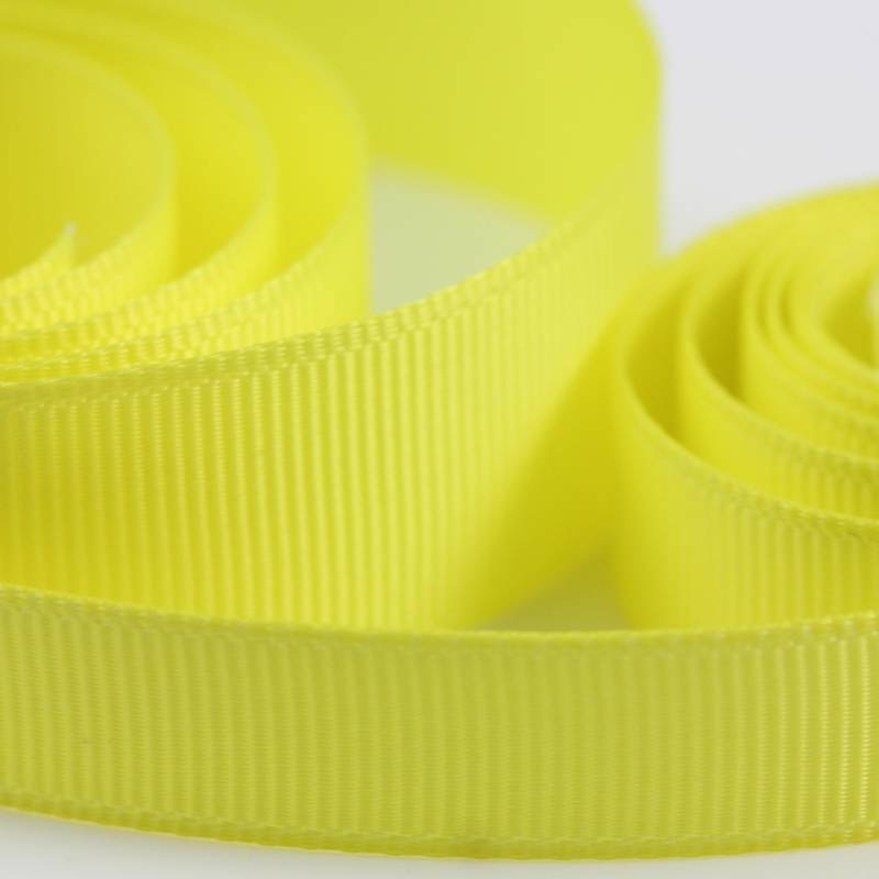5 Metres Quality Grosgrain Ribbon 15mm Wide - Yellow