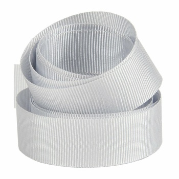 5 Metres Quality Grosgrain Ribbon 15mm Wide - Silver Grey
