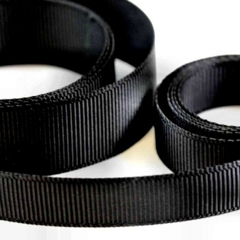 5 Metres Quality Grosgrain Ribbon 25mm Wide - Black