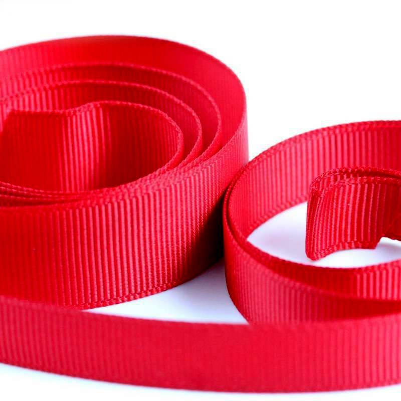 5 Metres Quality Grosgrain Ribbon 25mm Wide - Red