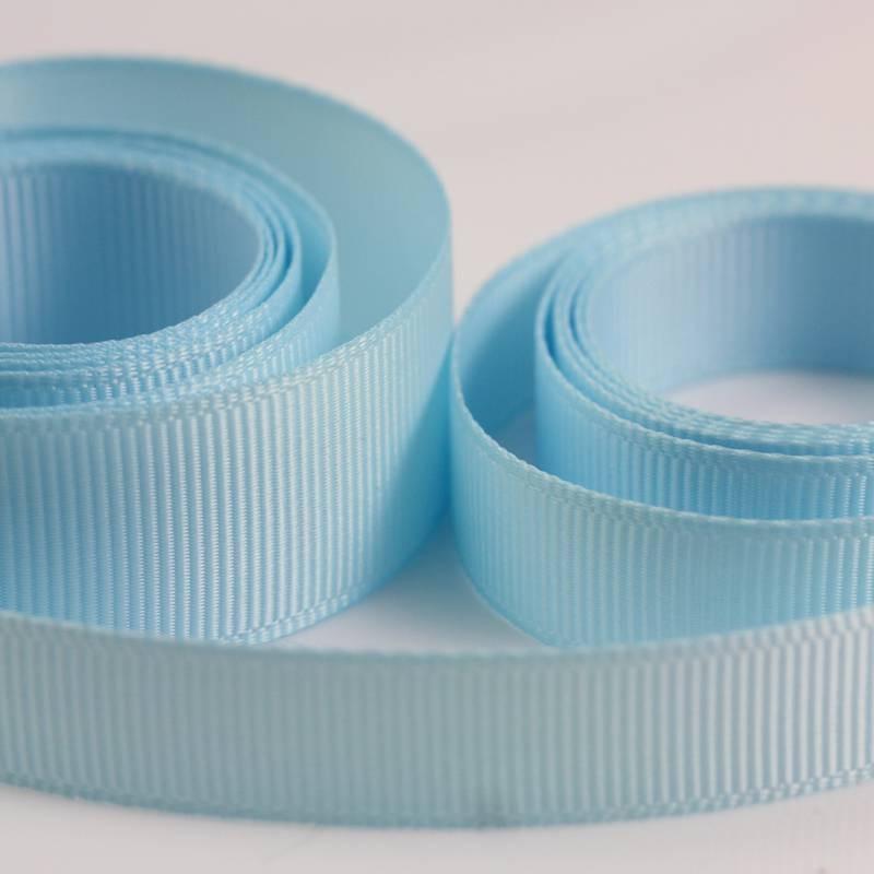 5 Metres Quality Grosgrain Ribbon 25mm Wide - Light Blue