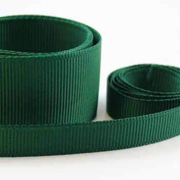 5 Metres Quality Grosgrain Ribbon 25mm Wide - Bottle Green