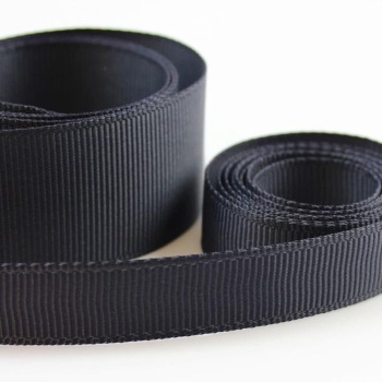 5 Metres Quality Grosgrain Ribbon 25mm Wide - Charcoal
