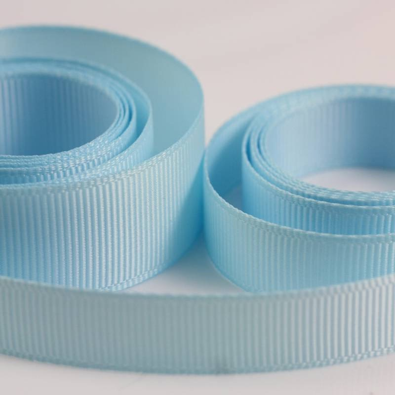5 Metres Quality Grosgrain Ribbon 25mm Wide - Light Blue