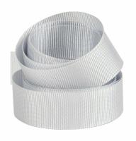 5 Metres Quality Grosgrain Ribbon 40mm Wide - Silver Grey