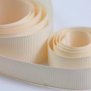 5 Metres Quality Grosgrain Ribbon 40mm Wide - Cream