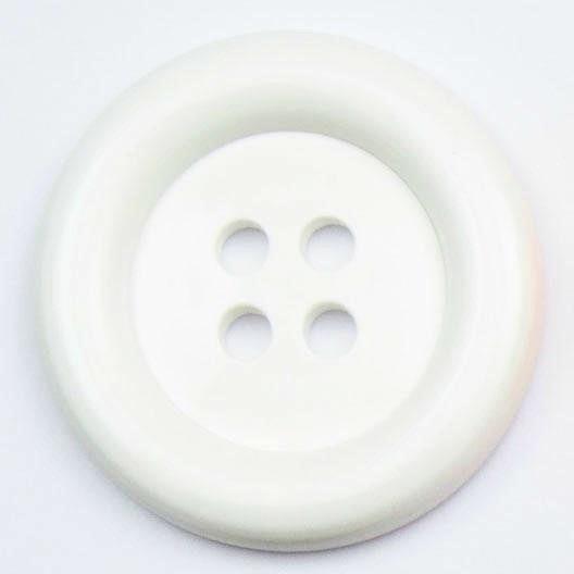 XL Clown Buttons Size 60 - White