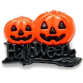 Spooky Halloween Pumpkin Buttons - 25mm