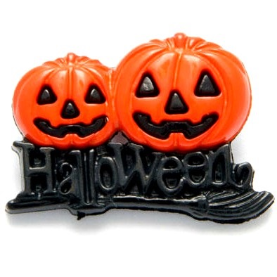 Spooky Halloween Pumpkin Buttons - 25mm