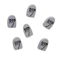 Spooky Halloween Tombstone Graveyard Buttons - 25mm x 18mm