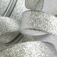 Berisfords Silver Sparkly Metallic Lame Ribbon 3mm
