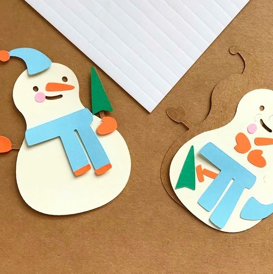 3D Snowman Card Topper Kit
