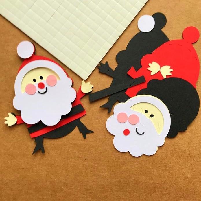 3D Christmas Santa Card Topper Kit