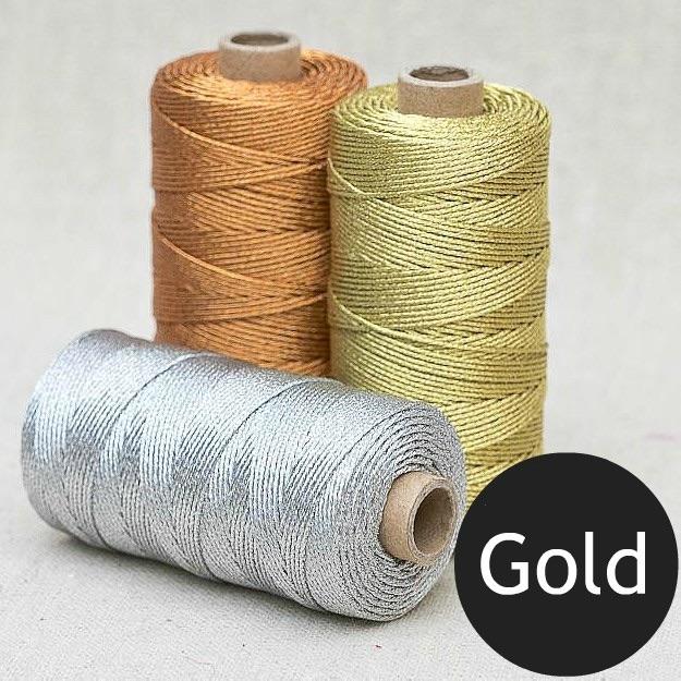1mm Metallic Rope - Gold