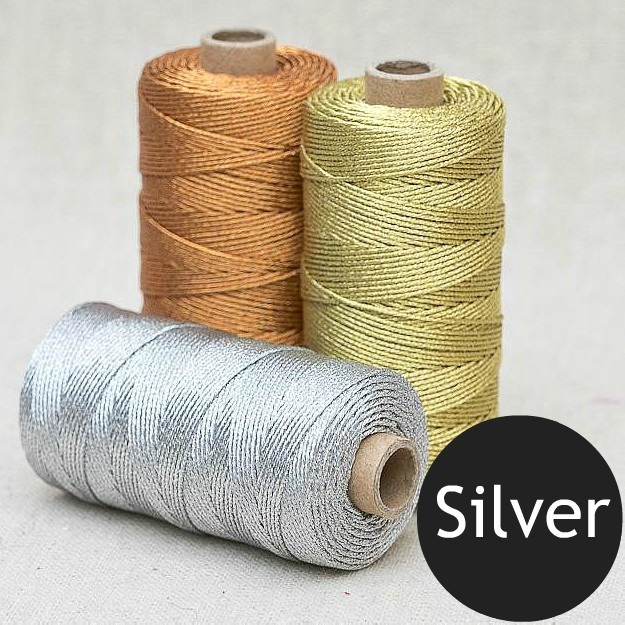1mm Metallic Rope - Silver