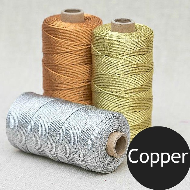 1mm Metallic Rope - Copper