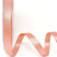 Berisfords 5 Metres Quality Double Satin Ribbon 10mm Wide - Rose Gold