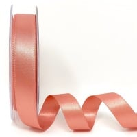 Berisfords 5 Metres Quality Double Satin Ribbon 15mm Wide - Rose Gold