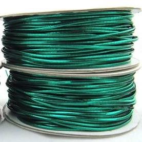 1.2mm Lurex Stretch Elastic Cord - Green