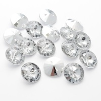 Round Acrylic Diamante Buttons Size 20