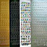 Italic Alphabet Capital Letters Peel Off Sticker Sheet