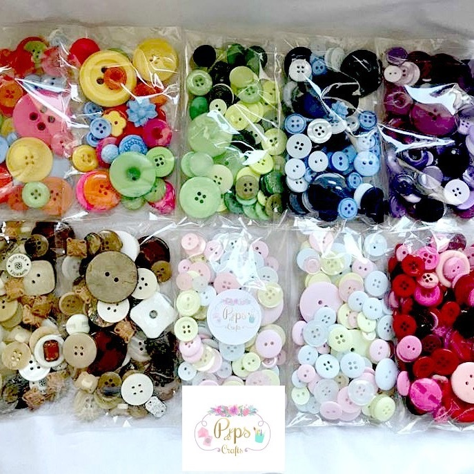 Half a Kilo of Assorted Buttons - Mixed Colours & Sizes