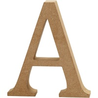 MDF Free Standing Wooden Alphabet Letter A - 13cm High