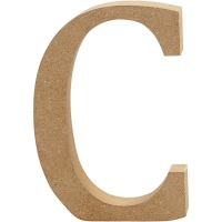 MDF Free Standing Wooden Alphabet Letter C - 13cm High