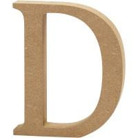 MDF Free Standing Wooden Alphabet Letter D - 13cm High