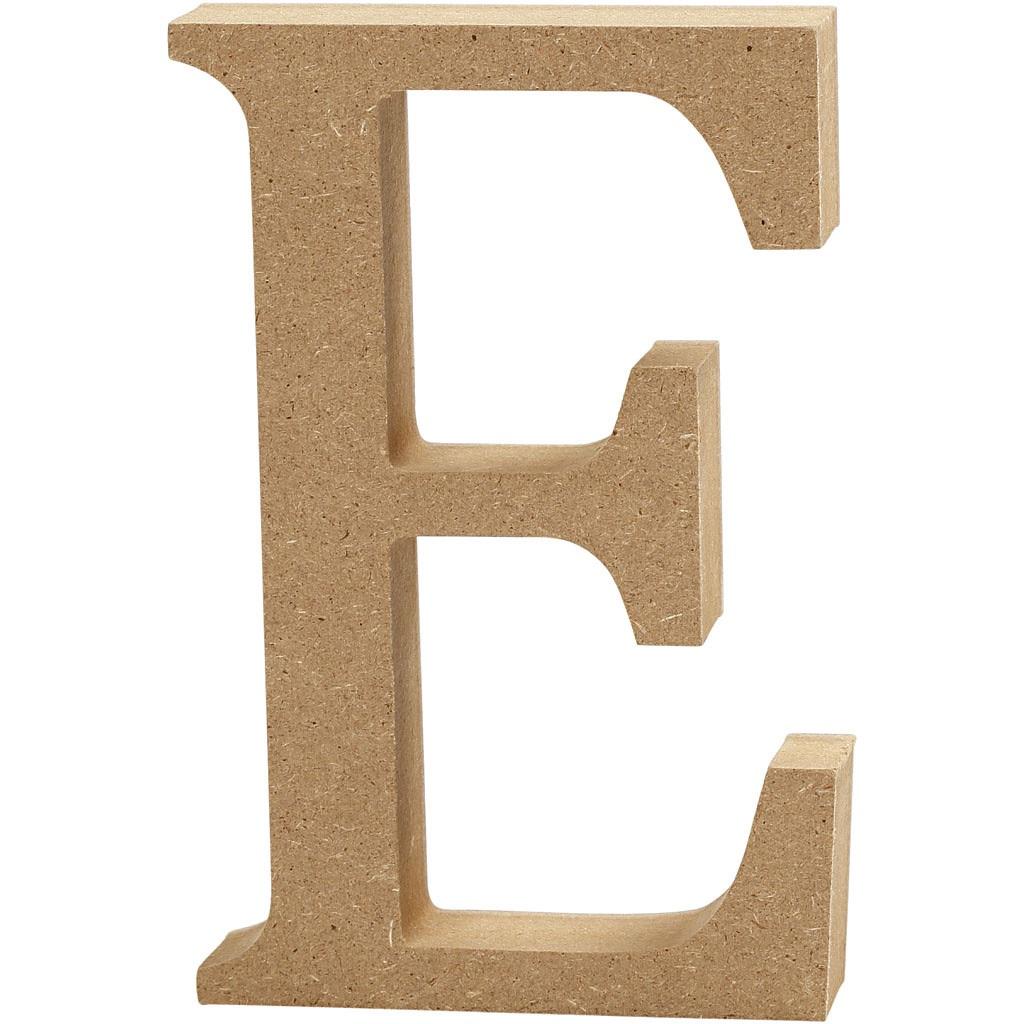 MDF Free Standing Wooden Alphabet Letter E - 13cm High