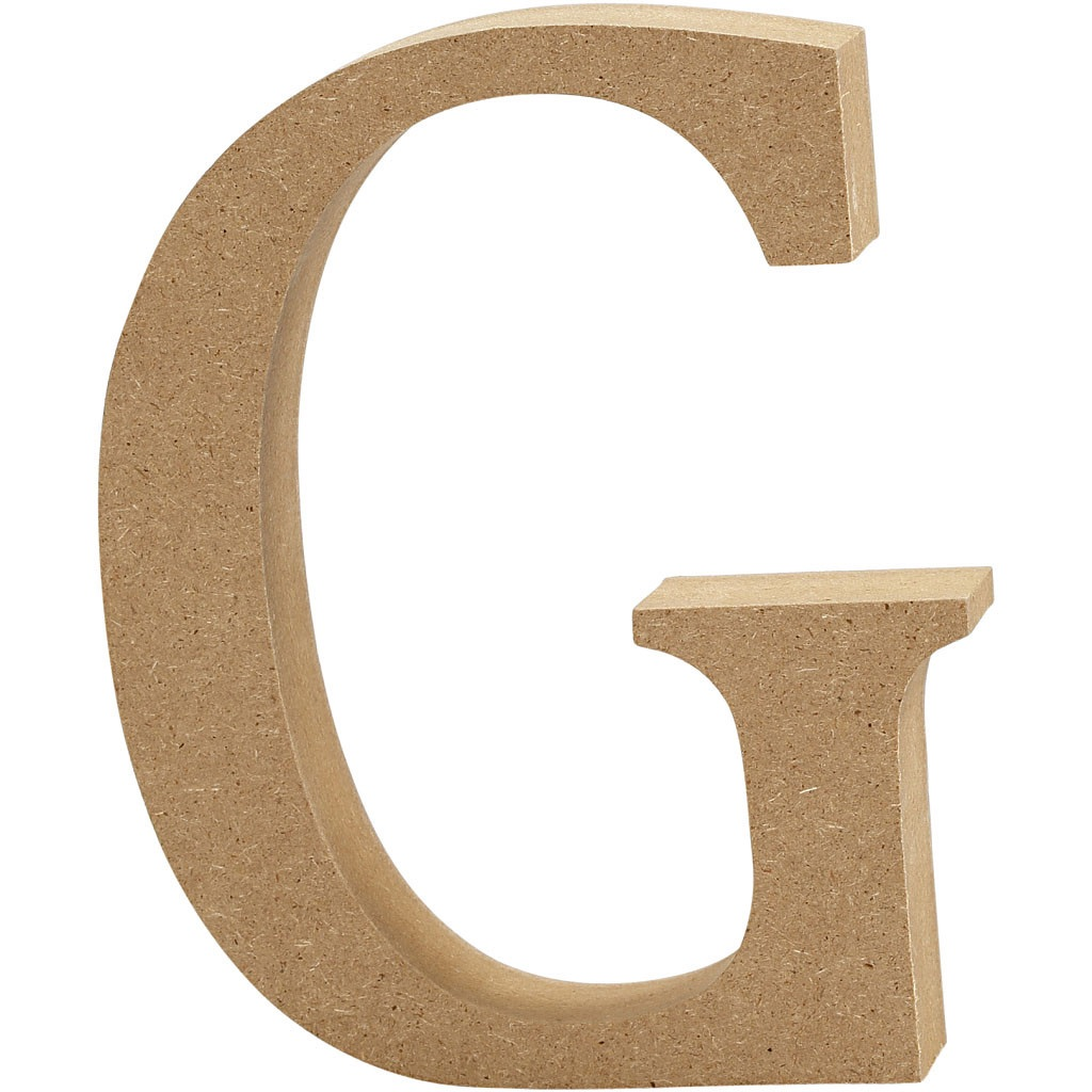 MDF Free Standing Wooden Alphabet Letter G - 13cm High