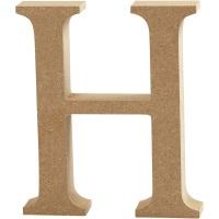 MDF Free Standing Wooden Alphabet Letter H - 13cm High