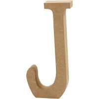 MDF Free Standing Wooden Alphabet Letter J - 13cm High