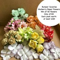 Bumper Surprise Pack of Mulberry Paper Flowers
