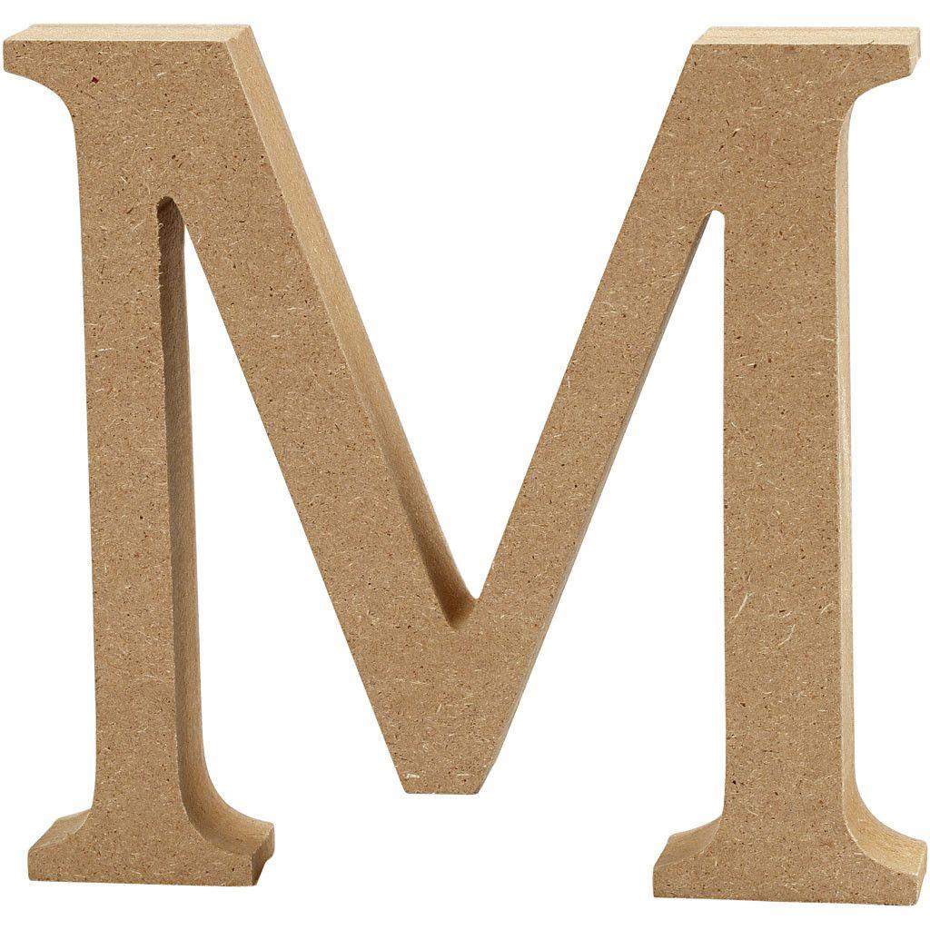 MDF Free Standing Wooden Alphabet Letter M - 13cm High