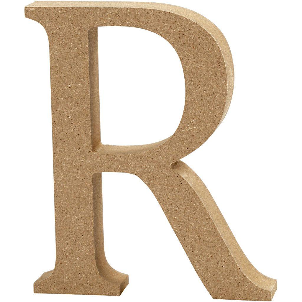 MDF Free Standing Wooden Alphabet Letter R - 13cm High