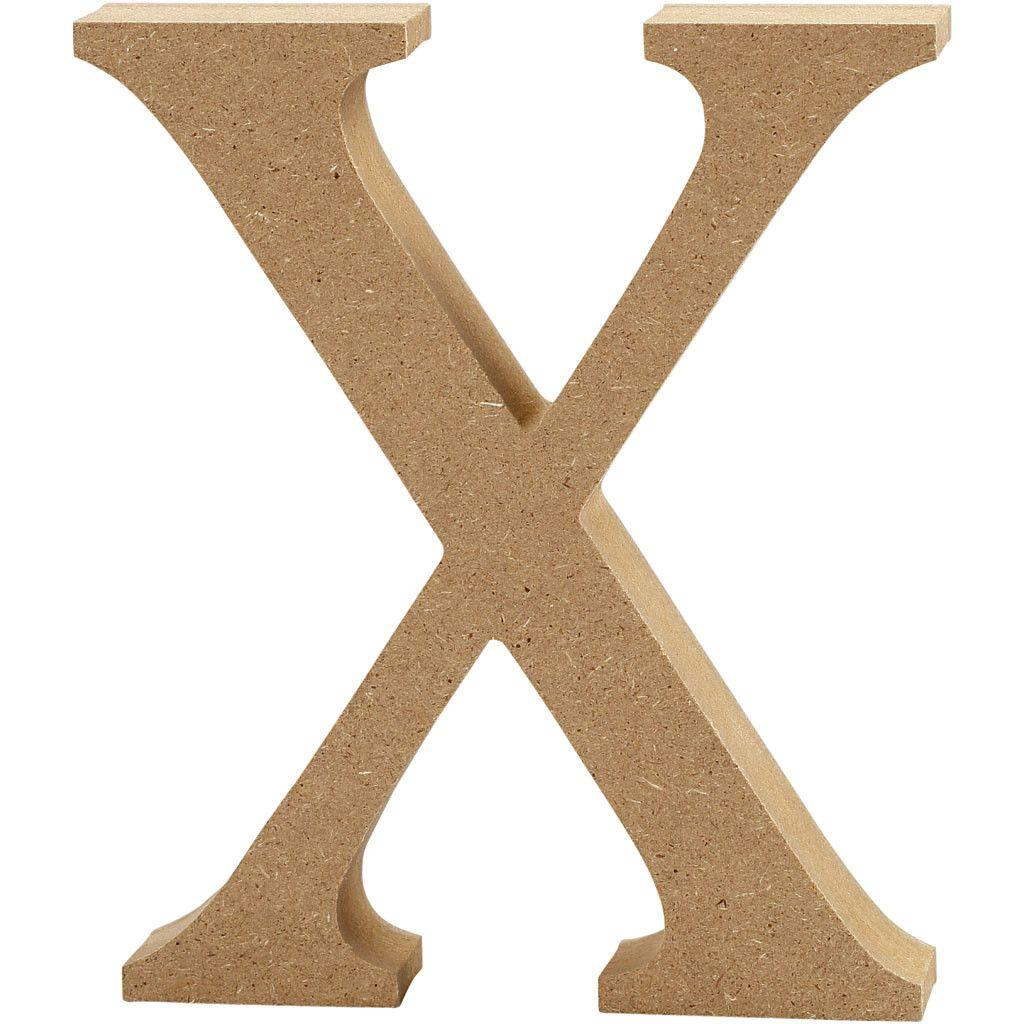 MDF Free Standing Wooden Alphabet Letter X - 13cm High