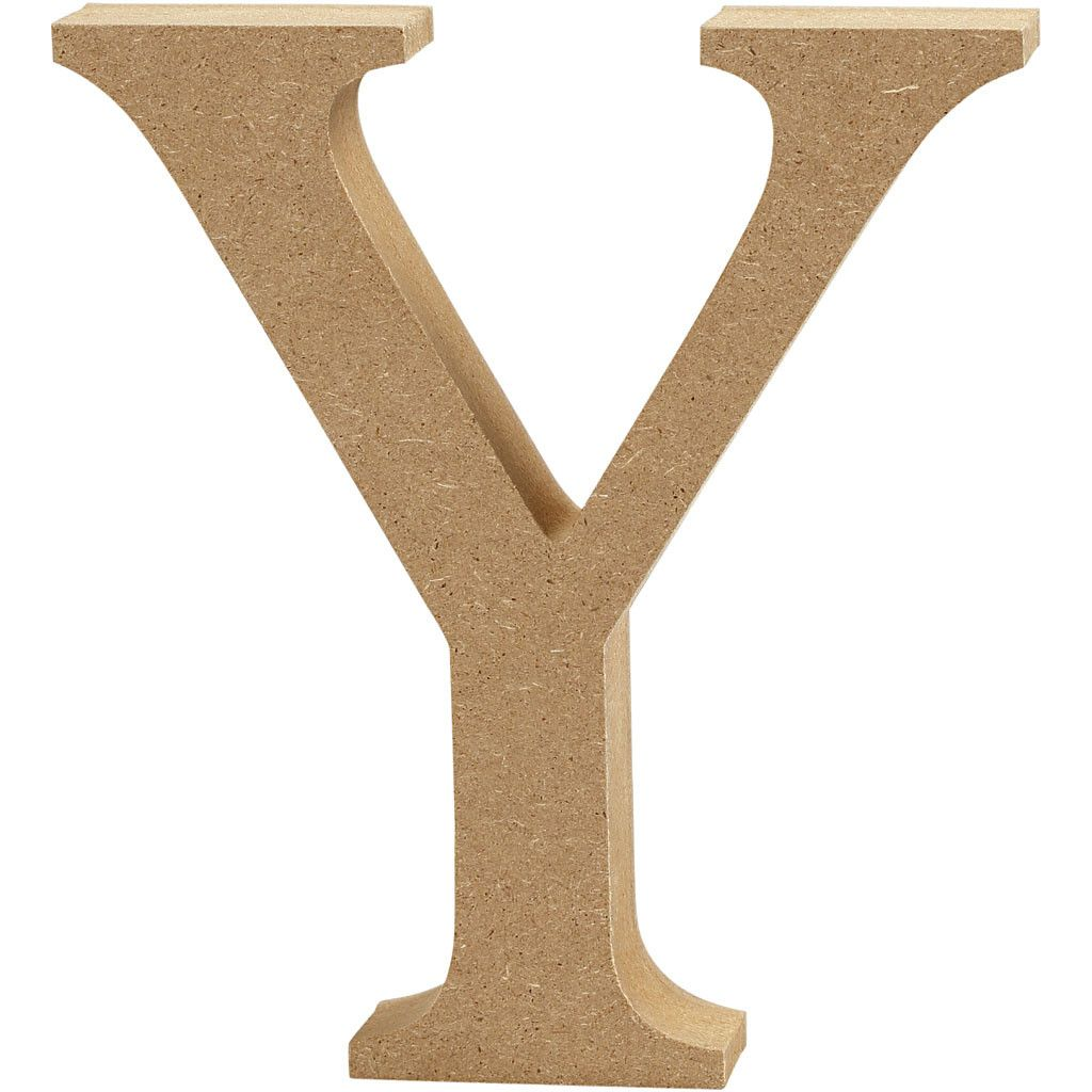 MDF Free Standing Wooden Alphabet Letter Y - 13cm High