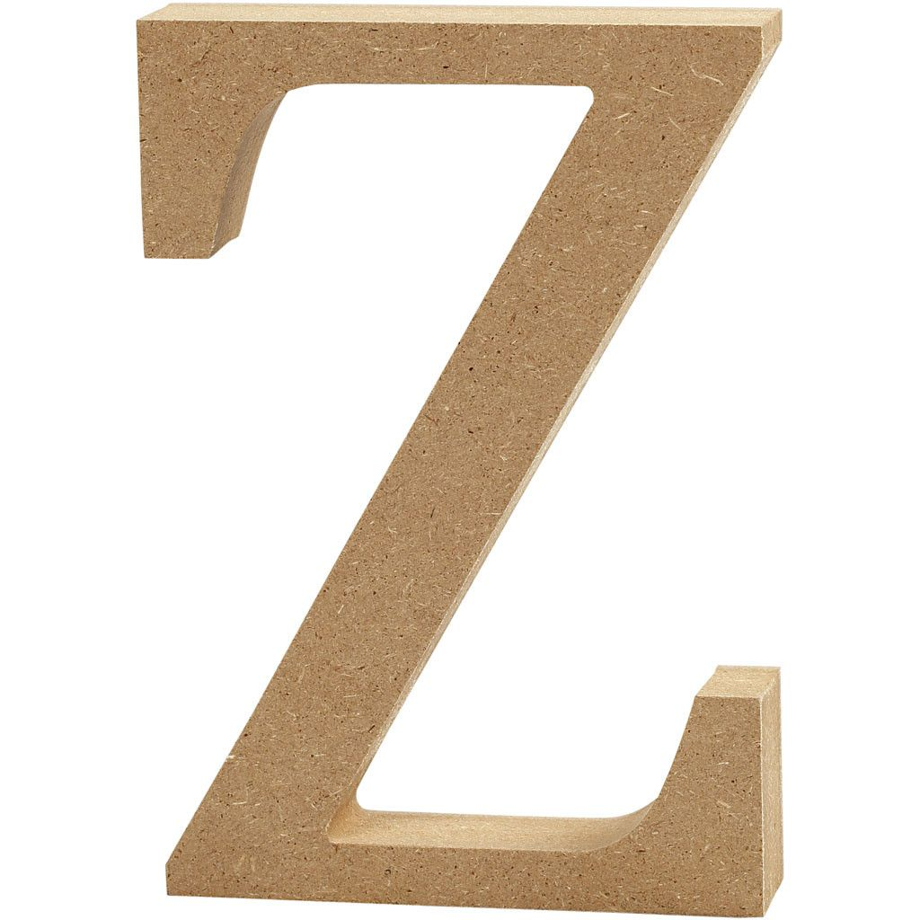 MDF Free Standing Wooden Alphabet Letter Z - 13cm High