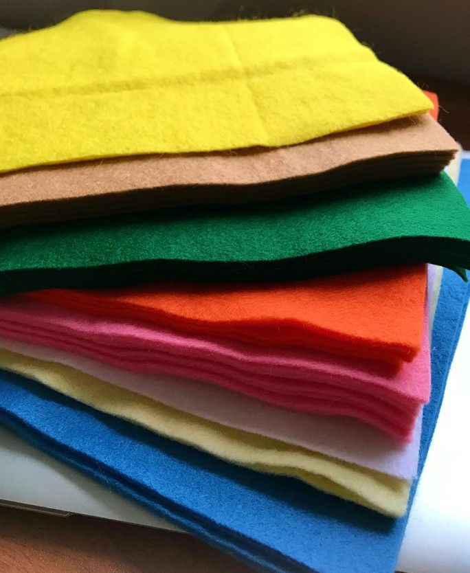 CLEARANCE - Wool Blend Felt Squares 9 x 9  - 38 Sheets