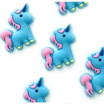 Cute Flatback Unicorn Embellishments - Blue