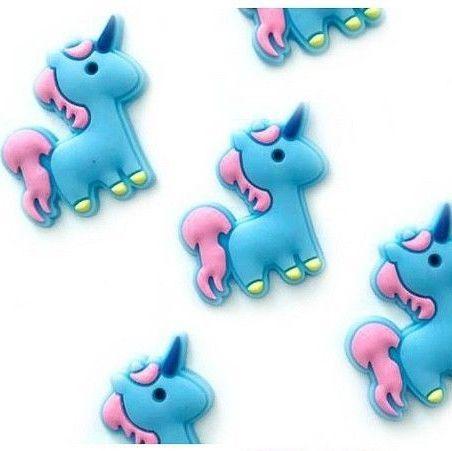 Cute Flatback Unicorn Embellishments - Blue