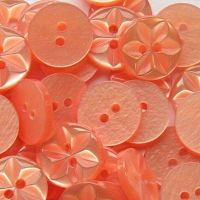 Round Star Buttons Size 26 - Peach
