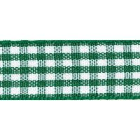 Berisfords 10mm Wide Gingham Ribbon - Hunter Green
